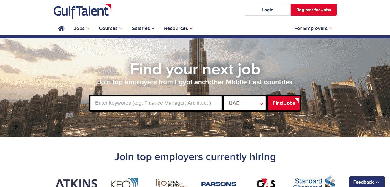 أهم 5 مواقع توظيف للعمل في دبي - موقع جولف تالنت