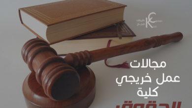 Photo of مجالات عمل خريجي كلية الحقوق