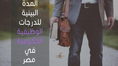 Photo of المدة البينية للدرجات الوظيفية الحكومية في مصر